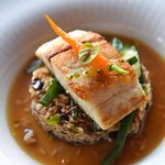 Las Bóvedas restaurant - fish and risotto