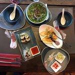 Sake Seviche, PHO BO, Spring-rolls