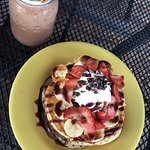 Frappe y Nutella Hot Cakes