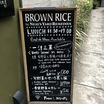 Brown Rice by Neil's Yard Remedies Lunch Sign - Inviting path