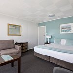 This unit has water views, a super king bed with electric blanket for a comfortable good nights