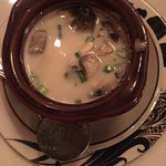 soup with coconut milk and lemongrass