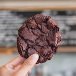 chocolate sour cherry cookie