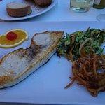 Swordfish steak meal