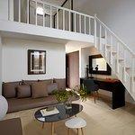 Superior Suite, bi level, living room