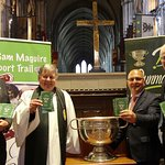 Launch of the Sam Maguire Passport by John Horan in St. Patrick's Cathedral following a church service to celebrate inclusiveness in the GAA.