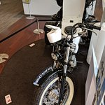 They actually drove this motorcycle around, sitting on the toilet- themed seat!