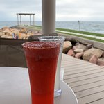 Strawberry Margarita and Pier