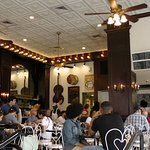 dining room and customers on Sunday morning at 600 Decatur