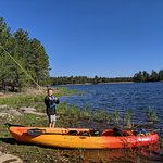 Fly fishing at Willow Springs Lake