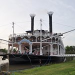An overnight stop for a paddlewheeler.