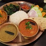 Chicken curry Thali set