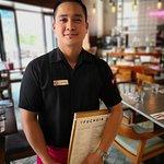 Our amazing waiter, John
