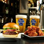 Burgers, Chicken Wings and Draught Beer Monday special