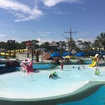 "From the ""Tadpole Hole"" for small kids to the ""White Knuckle River"", ""Pirates Plunge"" and ""Tree Top Drop"" for the older kids there are rides for every age group. They also have the traditional ""Wave Pool"" and ""Lazy River""."