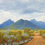 """Stirling Ranges in Changing Light"" Australian Landscape Oil Painting by Michael Hodgkins"