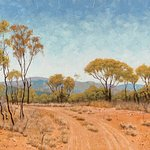 """Old Glenroy Station Country""  Australian Landscape Oil Painting by Michael Hodgkins"