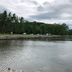 Erie Canal Park at Macedon - looking across canal to park