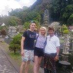 Take picture with Amy Mullen at Tirta Gangga, Karangasem, Bali.