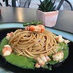 Spaghetti asparagi e gamberi