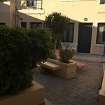 Courtyard outside the apartments -