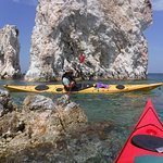Paddling around the miriad of small volcanic islands