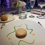 Original presentación del plato del foie