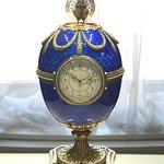 Faberge egg with hidden bird
