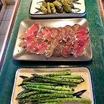 Asparagus, pastirma, and dolma