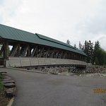 Vista da ponte coberta