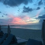 Sunset from the beach lounger.