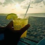 Sunset margarita on the beach.