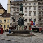 Beautiful fountain in the Historic Center of Vienna