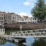 zeer mooie locatie met zicht op het kleine haventje