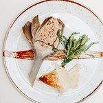Artichokes Barigul stuffed with Foie Gras with Balsamic Cream