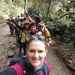 Na trilha, indo para Machu Picchu com Yosbel !