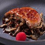 Фуагра с гречкой в соусе порто и устричными грибами/ Fuagra with buckwheat in porto sauce and oyster mushrooms 1 270р