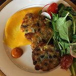 Three Sisters black bean and bell peppers fritters