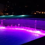 Quite spectacular waterfalls in the pools at night
