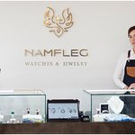Exclusive silver enamel jewelry by NAMFLEG