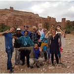 The lovely group at Aït Benhaddou, the most photographed Kasbah in Morocco!