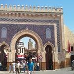 Blue gate of fes market