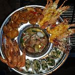 mix seafood tray