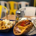 Gyros + French Fries with Feta