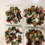 Salad with eggplants