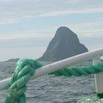 Approaching the island Bleik