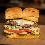 CHEESEBURGER – white american cheese, pickles, lettuce, tomato, onion, secret sauce