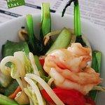 Prawn and seasonal veg stir-fry