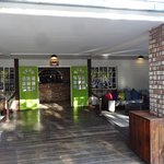 Entrance to Main reception at Damara Mopane Lodge