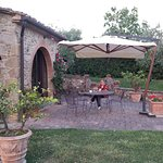 Patio area of our villa. Very private and tranquil!